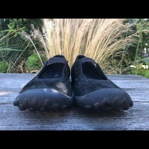 Privo Mary Jane Slip-on Black Suede Casual Flats